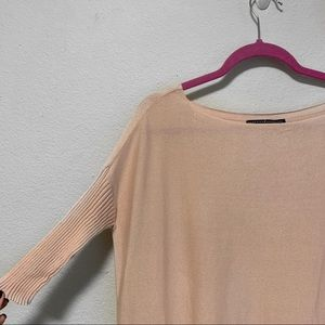 Peruvian Connection Pink Short Sleeve Sweater